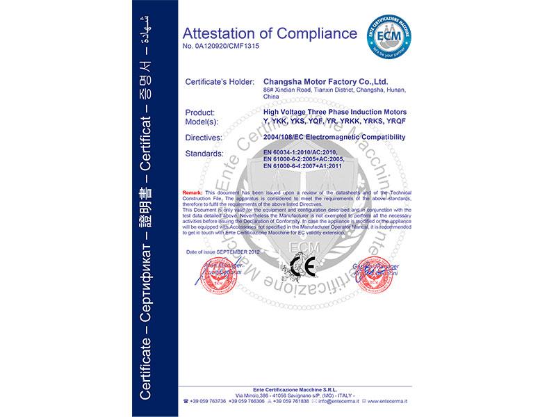 高压电机CE认证